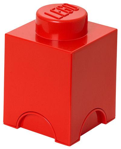 Déco - Pour les enfants - Boîte Lego® Brick / 1 plot - Empilable - ROOM COPENHAGEN - Rouge - Polypropylène