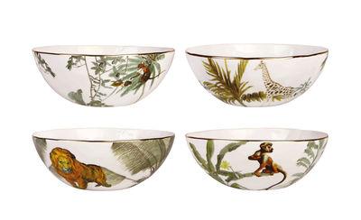 Tableware - Bowls - Jungle Bowl - / Set of 4 - Porcelain by & klevering - Jungle / Multicoloured - Fine porcelain