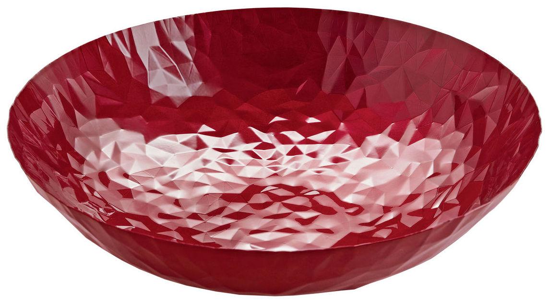 Arts de la table - Corbeilles, centres de table - Centre de table Joy N.11 / Ø 37 cm - Alessi - Rouge - Acier inoxydable