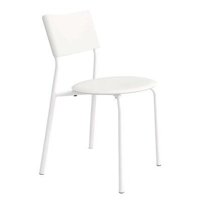 Mobilier - Chaises, fauteuils de salle à manger - Chaise empilable SSDr / Plastique recyclé - TIPTOE - Blanc Nuage - Acier thermolaqué, Polypropylène recyclé