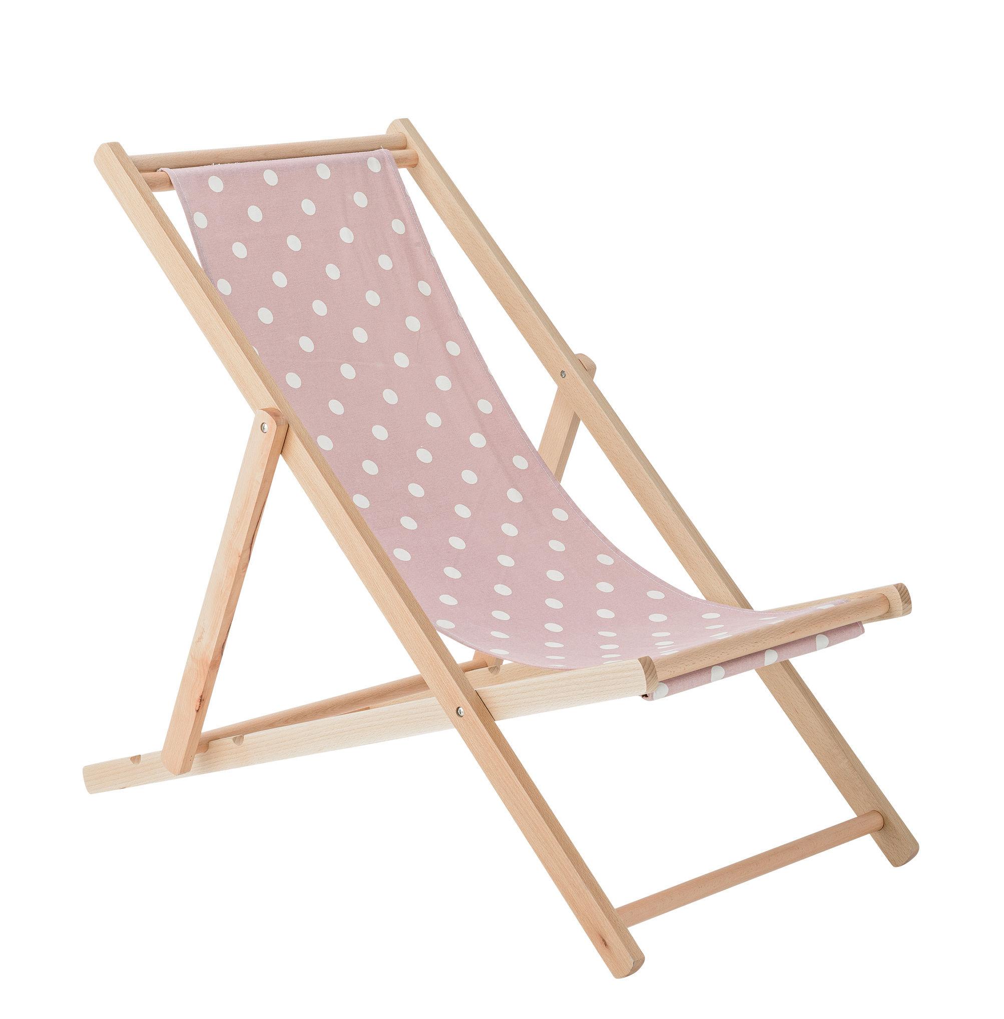 Chaise longue di Bloomingville - Bianco/Legno naturale | Made In Design