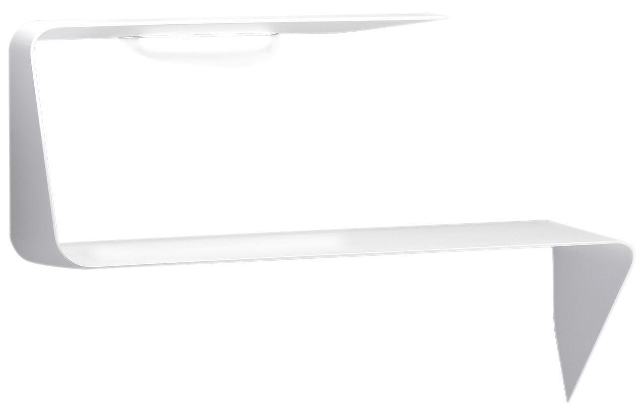 Furniture - Bookcases & Bookshelves - Mamba Desk - Shelf - With Led - Right angle - L 135 x H  93 cm by MDF Italia - White - Cristalplant