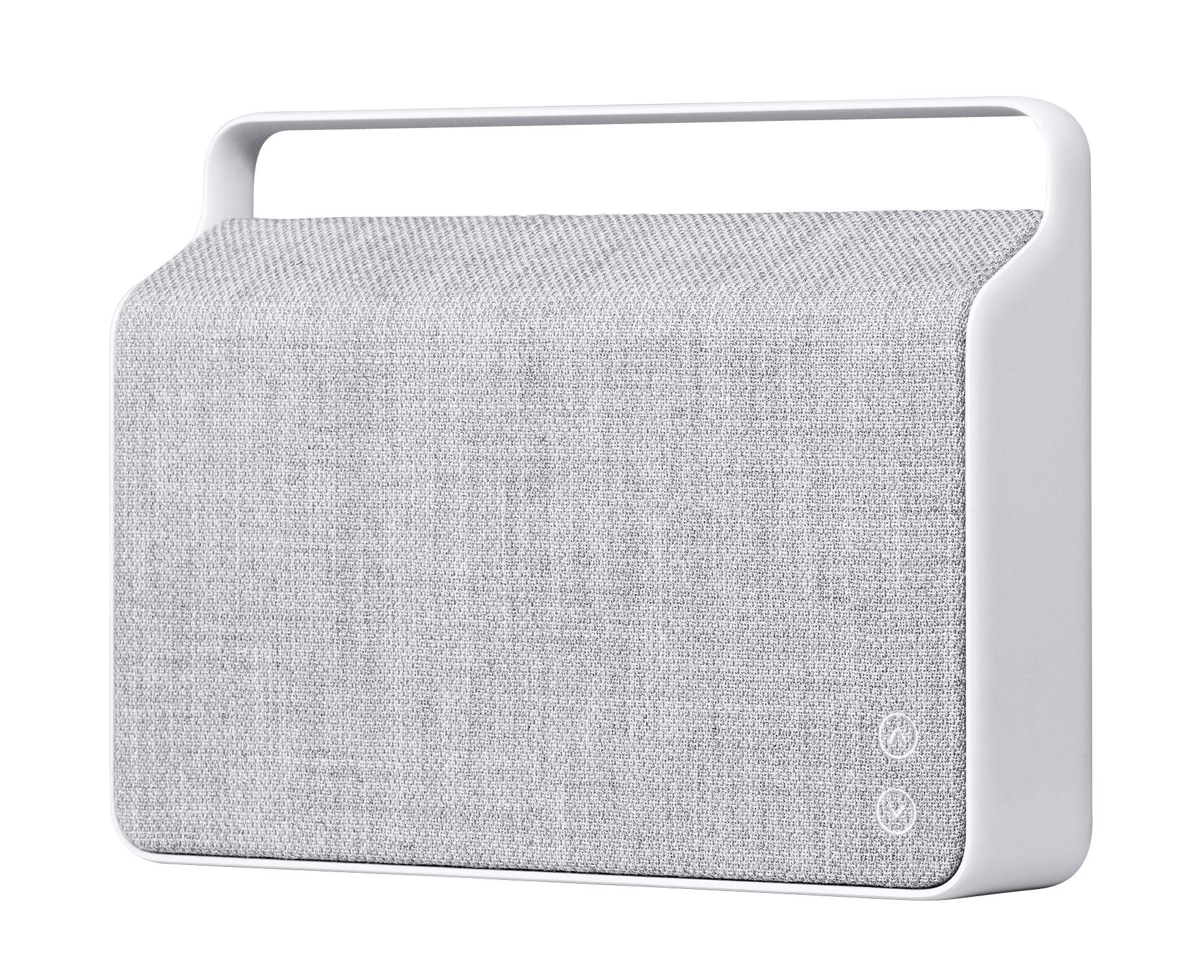 Accessori moda - Altoparlante & suono - Diffusore bluetooth Copenhague - / Senza fili - Tessuto & manico in alluminio di Vifa - Grigio selce - Alluminio, Tessuto Kvadrat