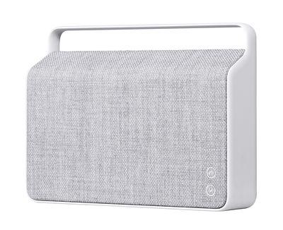 Accessoires - Enceintes audio & son - Enceinte Bluetooth Copenhague / Sans fil - Tissu & poignée alu - Vifa - Gris silex - Aluminium, Tissu Kvadrat