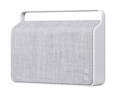Enceinte Bluetooth Copenhague / Sans fil - Tissu & poignée alu - Vifa gris silex en tissu