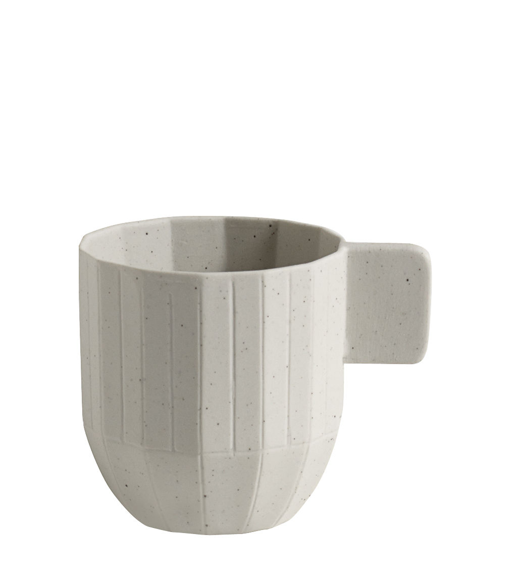 Tableware - Coffee Mugs & Tea Cups - Paper Porcelain Espresso cup - Porcelain by Hay - Cup / Light grey - China, Metal particles