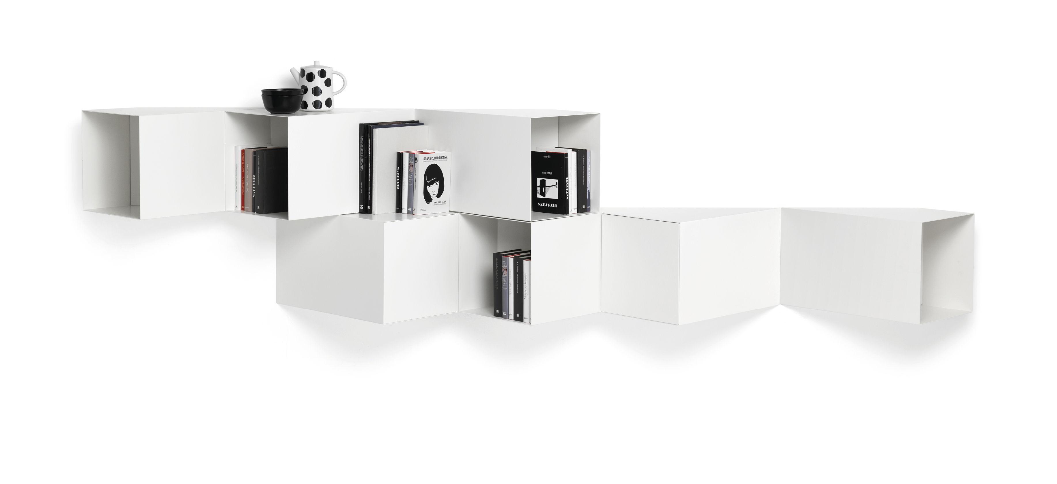 Mobilier - Etagères & bibliothèques - Etagère Cellula / Métal - 7 modules avec 2 portes - Mogg - Blanc - MDF peint, Métal peint