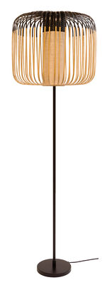 Lighting - Floor lamps - Bamboo Light Floor lamp - / H 150 cm by Forestier - Black / Natural - Metal, Natural bamboo