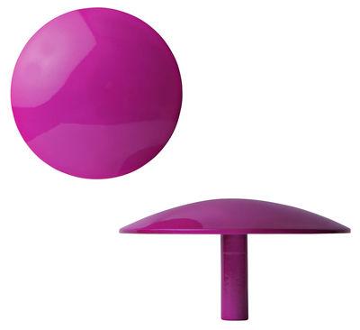 Furniture - Coat Racks & Pegs - Manto Hook - Fluo- Ø 10 cm by Sentou Edition - Fushia - Ø 10 cm - Lacquered cast aluminium