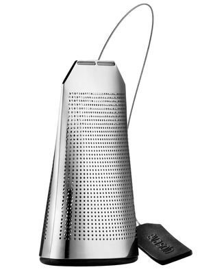 Tableware - Tea & Coffee Accessories - Tea Bag Infuser - Large version by Eva Solo - Glossy metal - Silicone, Stainless steel