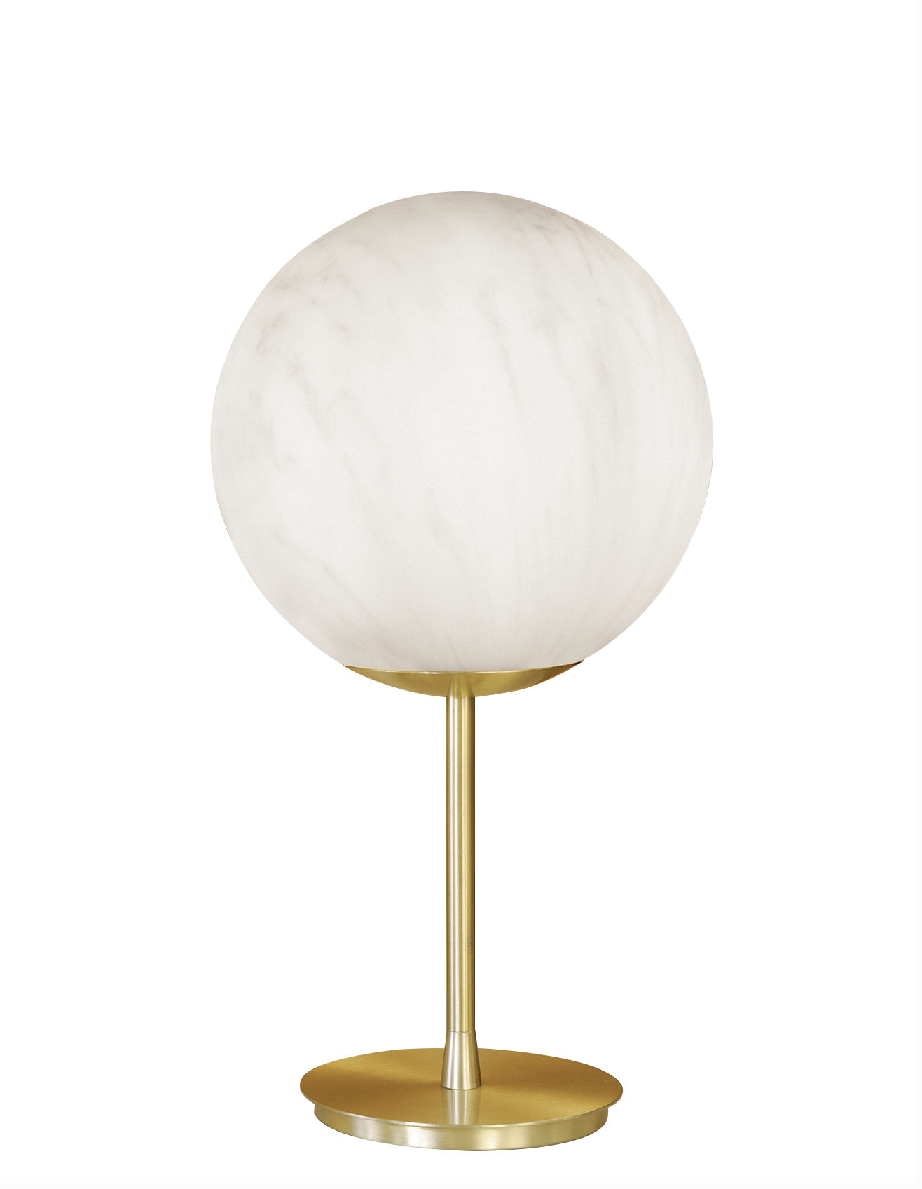 Lighting - Table Lamps - Mineral Lamp - / Marble-effect plastic - Ø 40 x H 75 cm by Slide - Grey / Brass - Brass, Recyclable polyethylene