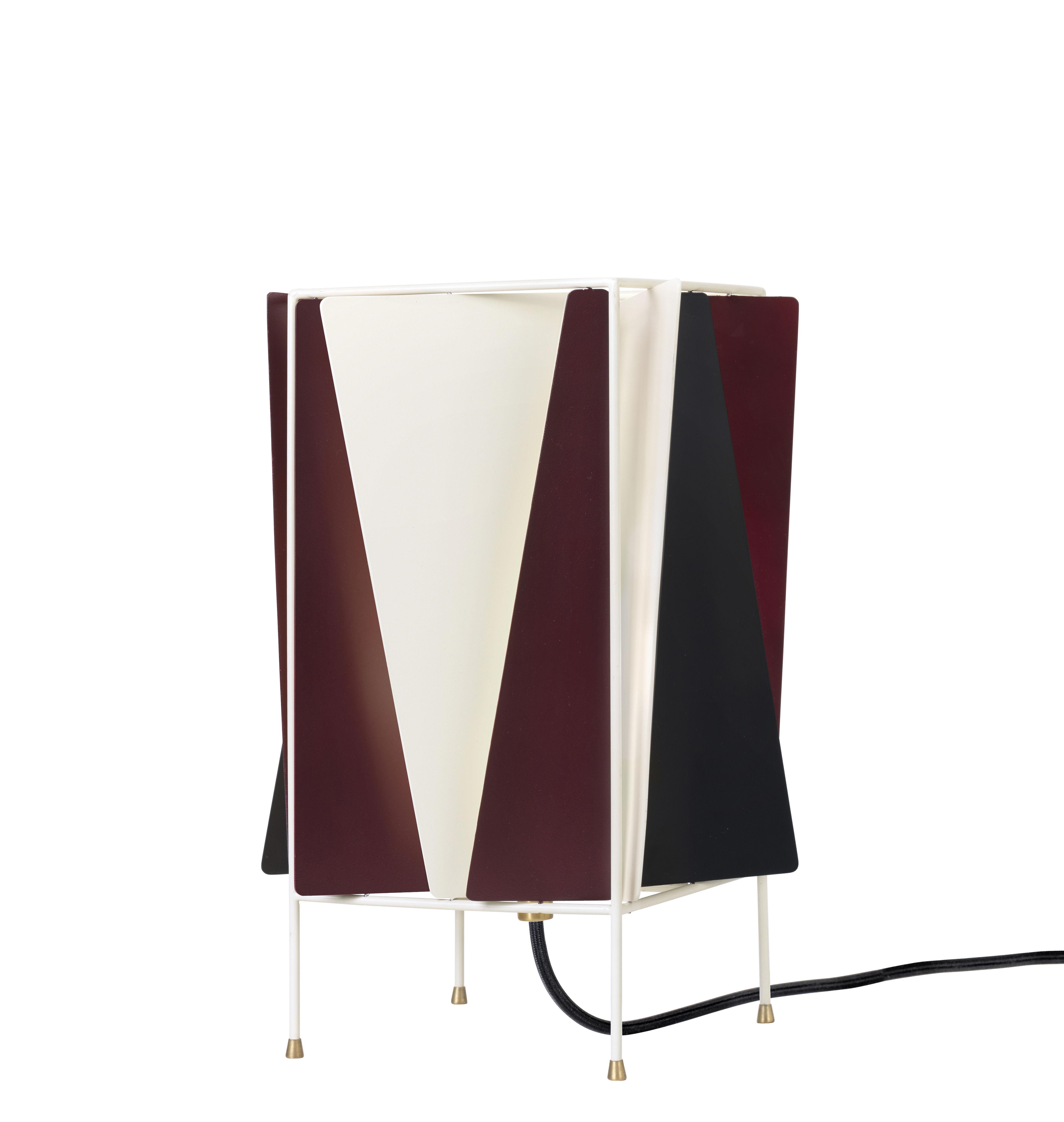 Luminaire - Lampes de table - Lampe de table B-4 / Orientable - Réédition de 1945 - Gubi - Rouge chianti, blanc & noir - Métal