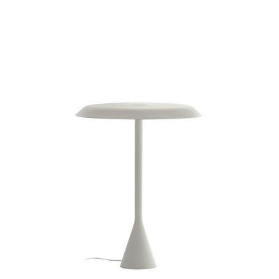 Lampe de table Panama Mini LED / Aluminium - H 30 cm - Nemo blanc en métal