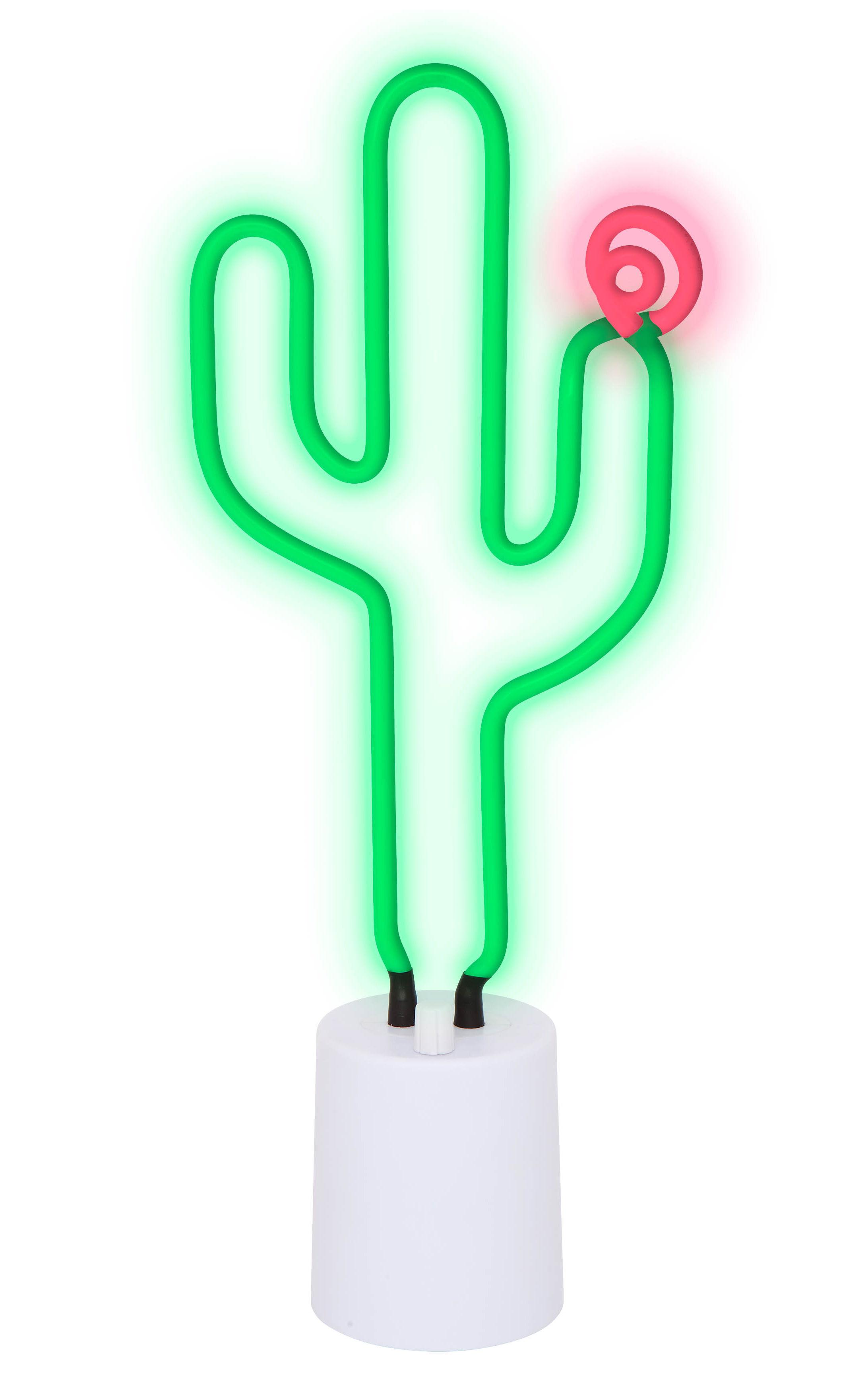 Déco - Pour les enfants - Lampe Neon Cactus Large / H 45 cm - Sunnylife - Cactus / Vert - ABS, Verre