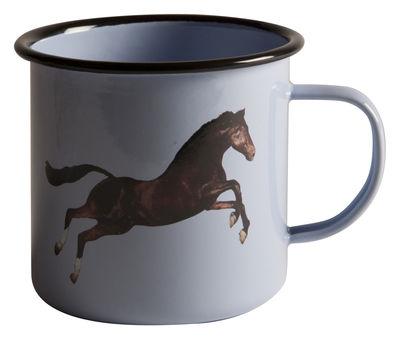 Tableware - Coffee Mugs & Tea Cups - Toiletpaper / Cheval Mug by Seletti - Horse - Enamelled metal