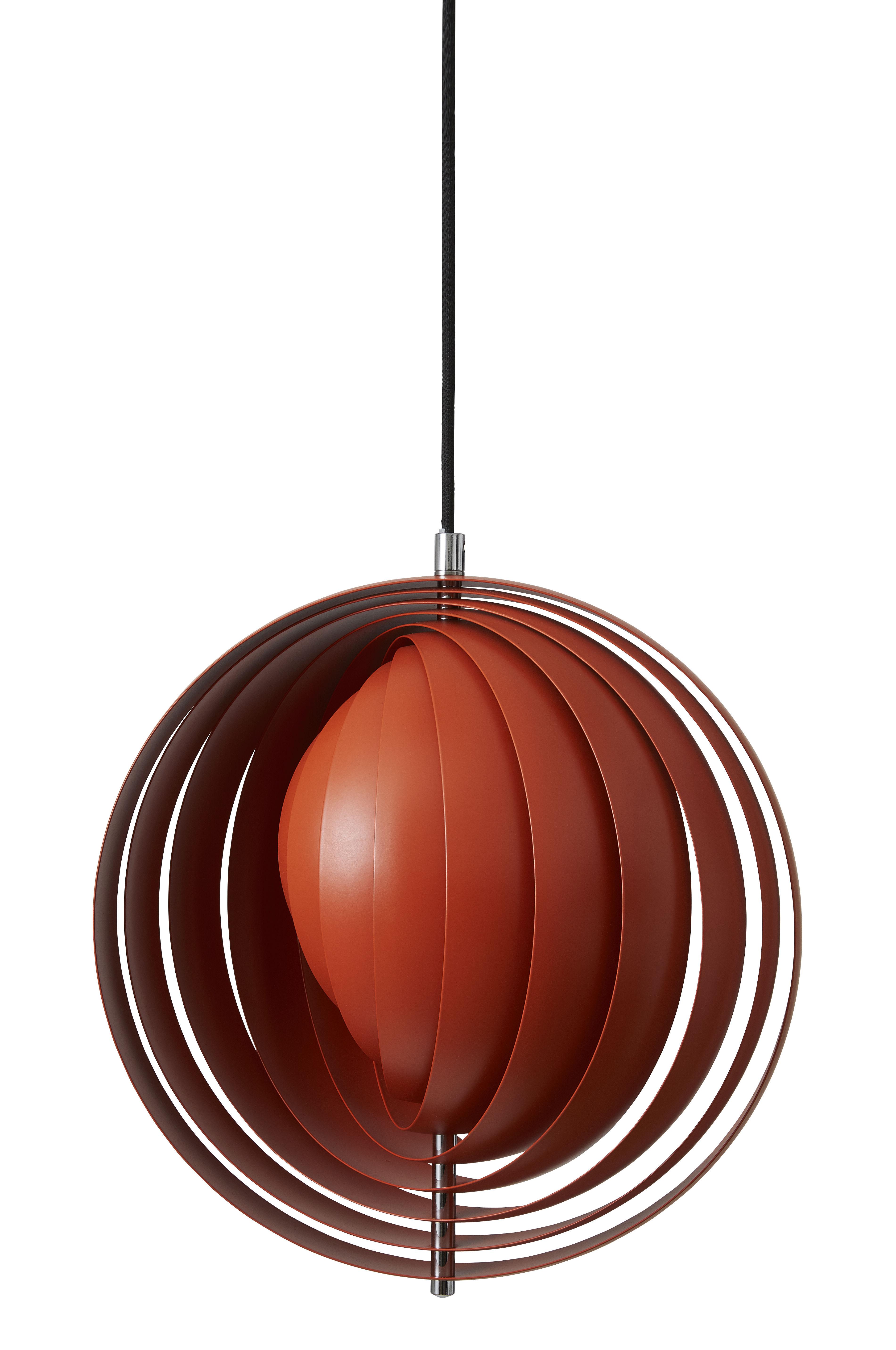 Lighting - Pendant Lighting - Moon Pendant - / Ø 34 cm - Panton 1960 by Verpan - Orange - Varnished metal