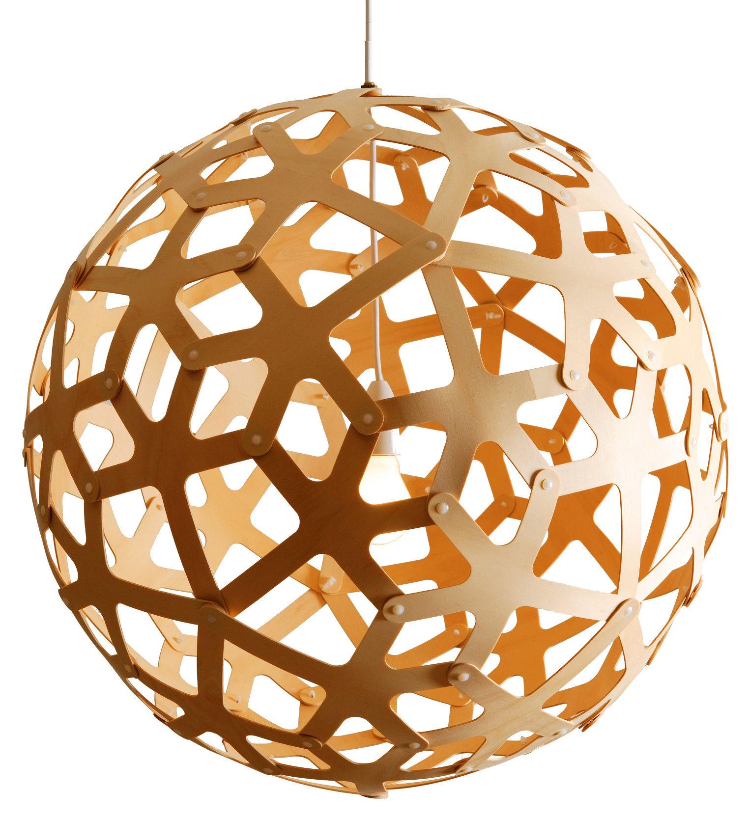 Leuchten - Pendelleuchten - Coral Pendelleuchte Ø 60 cm - David Trubridge - Holz natur - Ø 60 cm - Kiefernfurnier