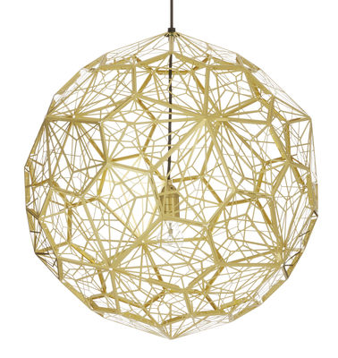 Etch Web Pendelleuchte / Ø 60 cm - Tom Dixon - Messing