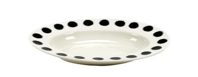 Image of Piatto fondo Pasta Pasta - / Piatto per la pasta - Porcellana - 31 x 21 cm di Serax - Bianco,Nero - Ceramica