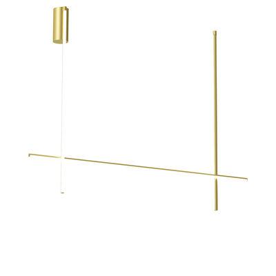 Luminaire - Plafonniers - Plafonnier Coordinates C2 LED / L 176 x H 137 cm - Flos - Champagne anodisé - Aluminium extrudé