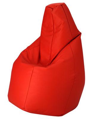 Image of Pouf Sacco Outdoor - / Per l'esterno - Tessuto di Zanotta - Rosso - Tessuto