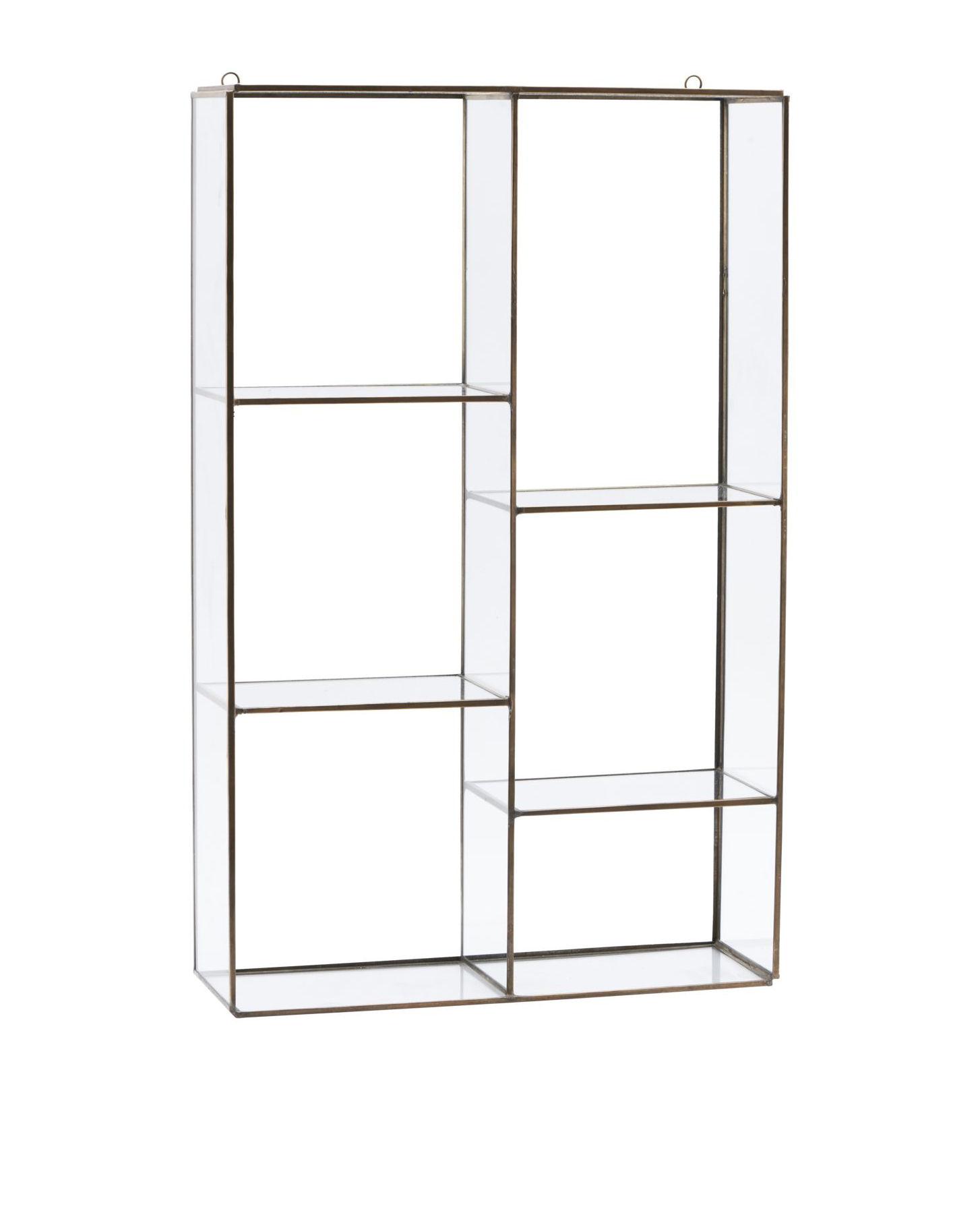 Arredamento - Scaffali e librerie - Scaffale Keeper Large - / H 52 x L 33 cm di House Doctor - Large / Ottone - Metallo, Vetro