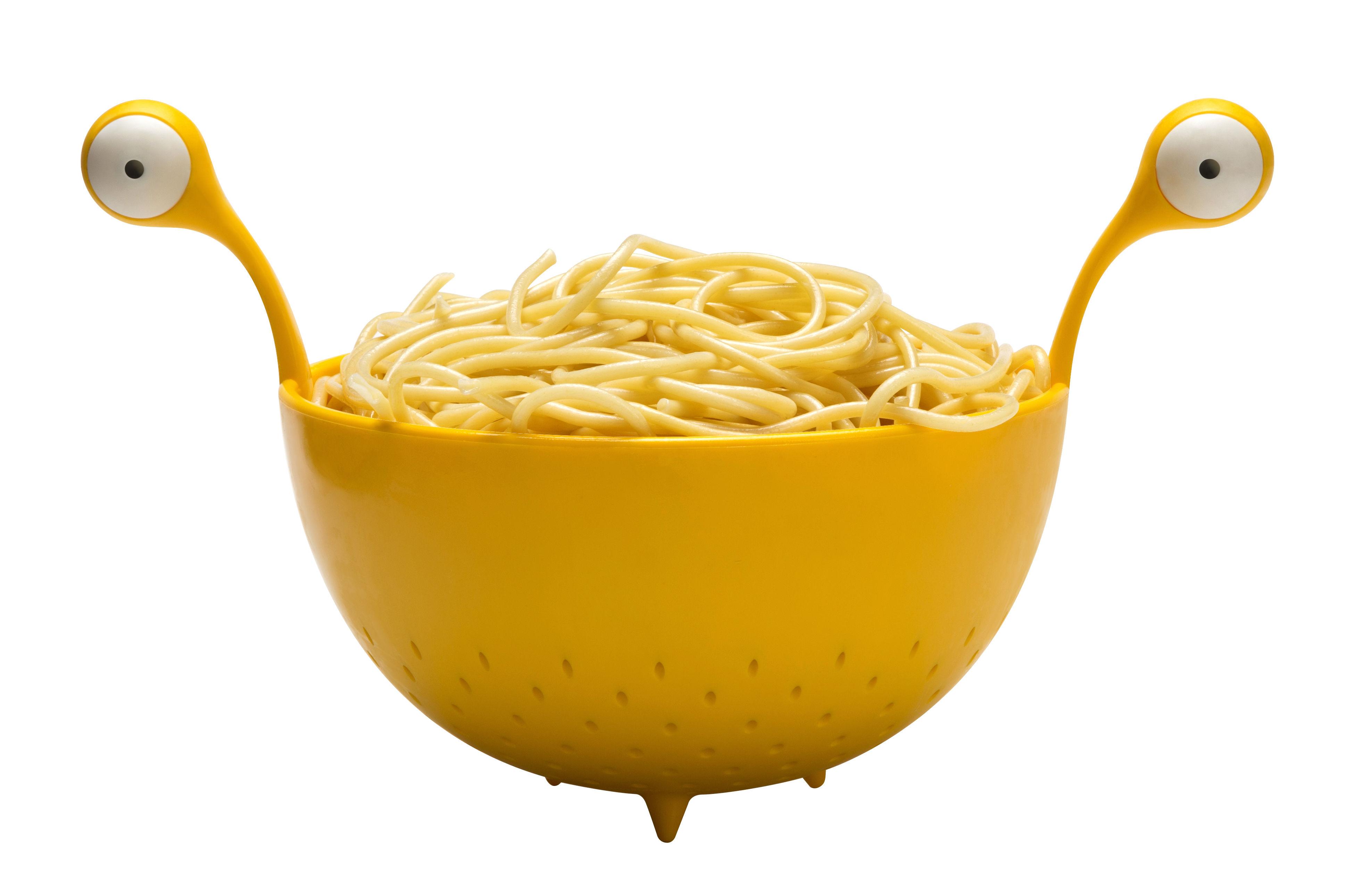 Cucina - Utensili da cucina - Scolapasta Spaghetti Monster - / Ø 22 cm di Pa Design - Giallo - Polipropilene