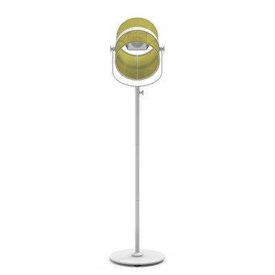 Lighting - Floor lamps - La Lampe Paris LED Solar floorlamp - / Solar by Maiori - Structure : White - Diffuser : Citrus - Fabric, Painted aluminium