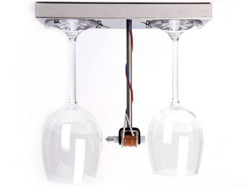 Déco - Tendance humour & décalage - Sonnette Bottoms Up Doorbell - droog - Transparent & acier - Acier inoxydable, Cristal