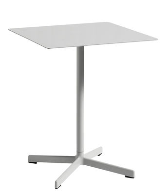 Outdoor - Garden Tables - Neu Square table - 60 x 60 cm by Hay - Light grey - Epoxy lacquered cast aluminium, Epoxy lacquered steel