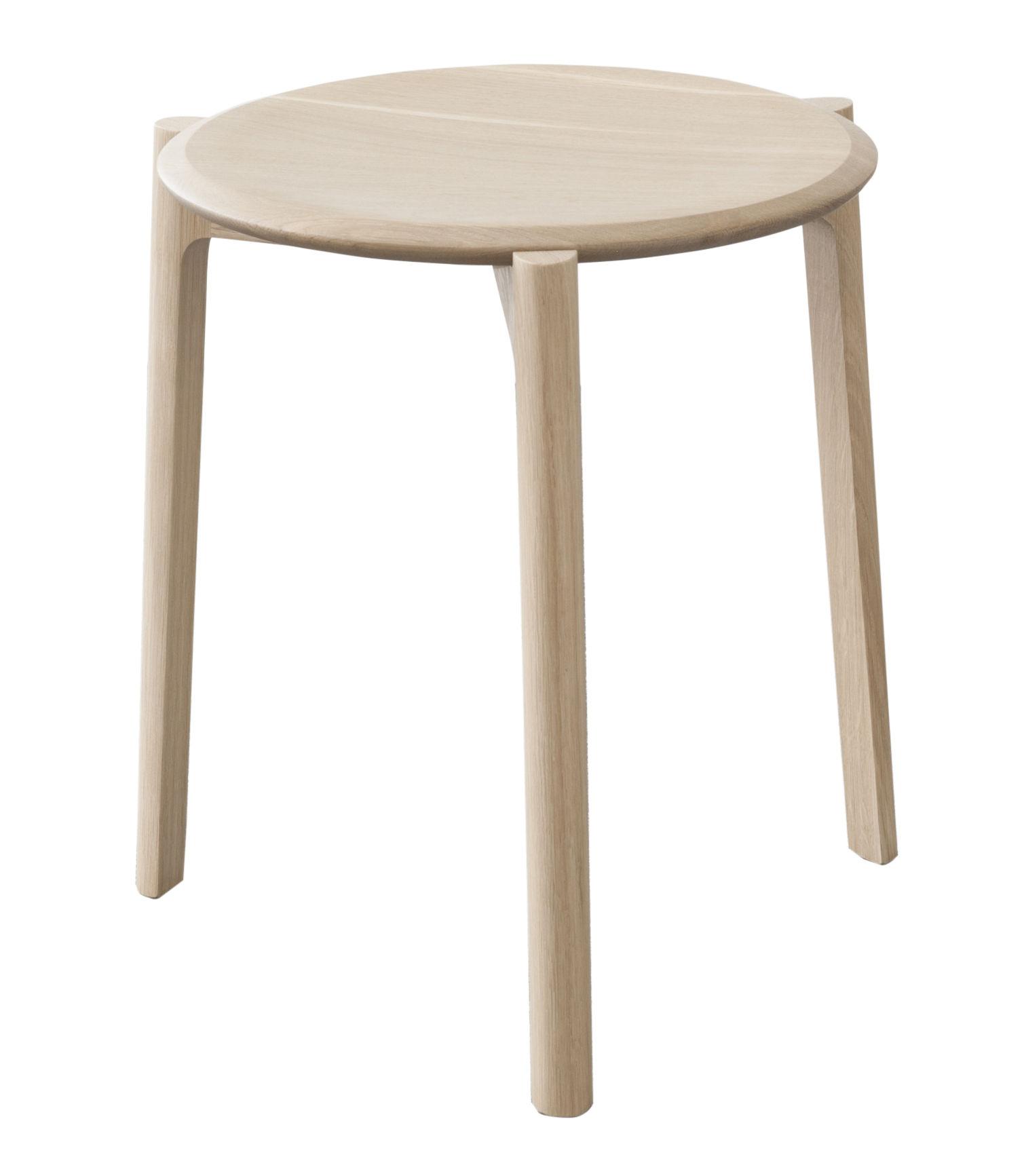 Furniture - Stools - Svelto Stackable stool - Wood / H 45 cm by Ercol - Oak - Solid oak