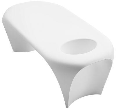 Table basse lumineuse Lily / LED RVB - Bac à glace intégré - MyYour blanc en matière plastique