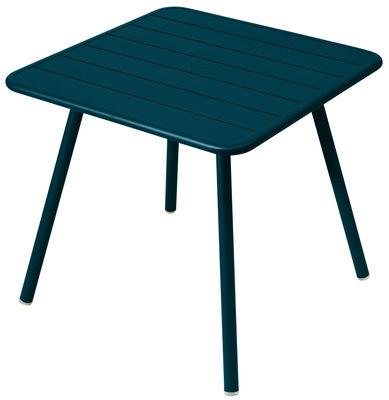Table Luxembourg / 80 x 80 cm - 4 pieds - Fermob bleu acapulco en métal