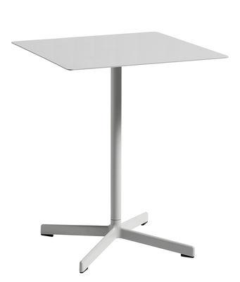 Jardin - Tables de jardin - Table carrée Neu / 60 x 60 cm - Métal - Hay - Gris clair - Acier laqué époxy, Fonte d'aluminium laquée époxy