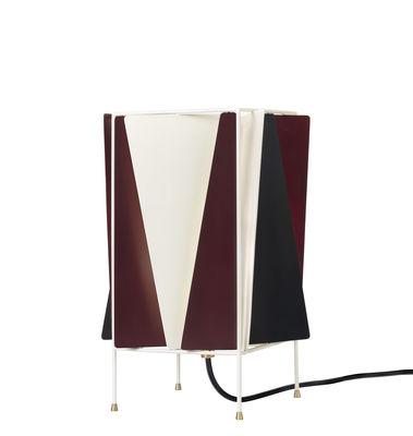 Lighting - Table Lamps - B-4 Table lamp - / Orientable - Réédition de 1945 by Gubi - Rouge chianti, blanc & noir - Metal