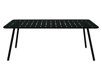 Outdoor - Tables de jardin - Table rectangulaire Luxembourg / 8 personnes - 207 x 100 cm - Aluminium - Fermob - Réglisse - Aluminium laqué