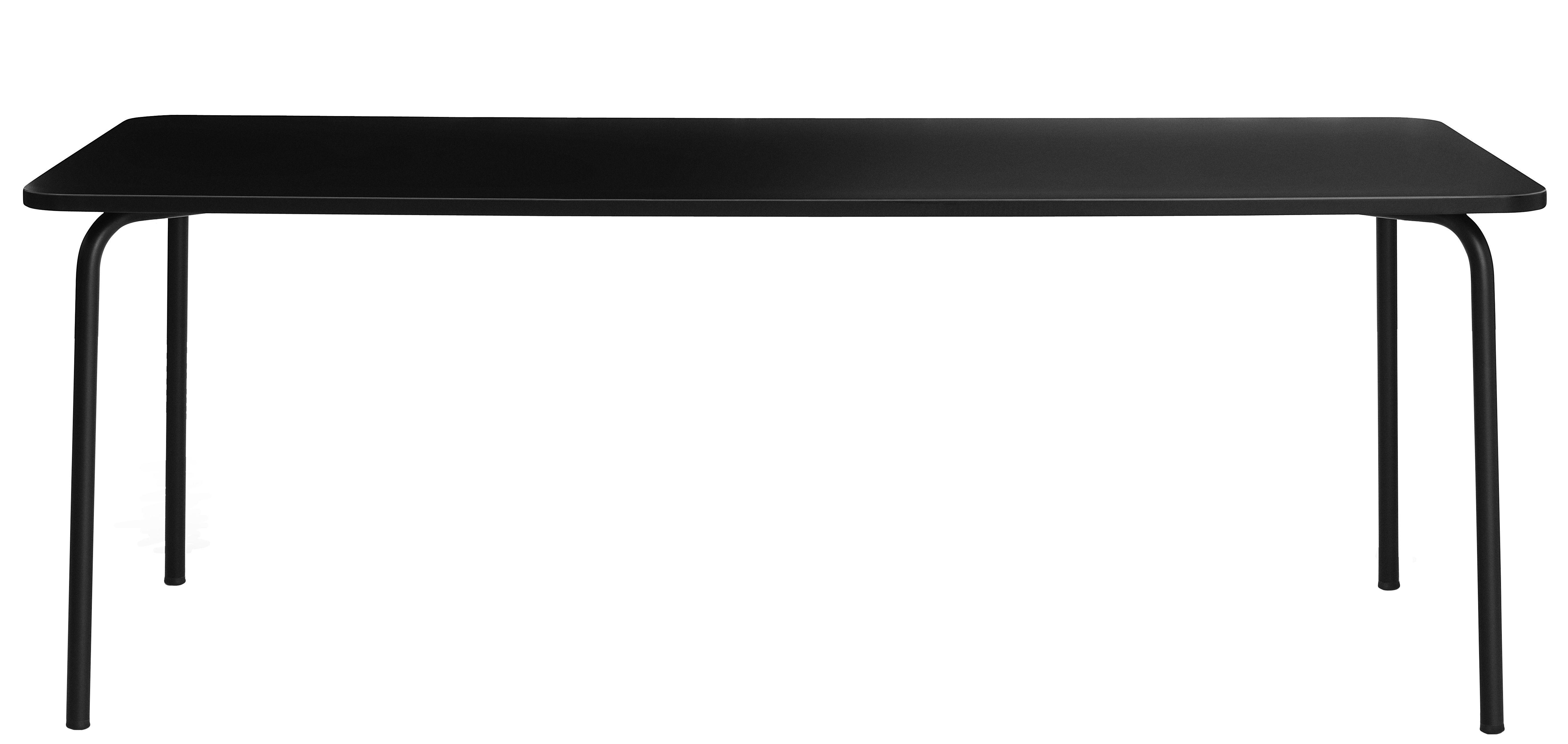 Mobilier - Tables - Table rectangulaire My Table Large / 200 x 90 cm - Normann Copenhagen - Noir - Acier laqué, Laminé