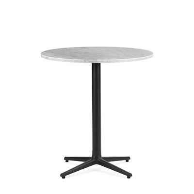 Jardin - Tables de jardin - Table ronde Allez 4L OUTDOOR / Ø 70 cm - Marbre - Normann Copenhagen - Marbre blanc (outdoor) - Fonte, Marbre