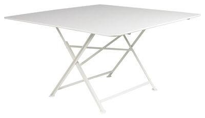 Outdoor - Tavoli  - Tavolo pieghevole Cargo di Fermob / 128 x 128 cm - Fermob - Bianco - Acciaio laccato