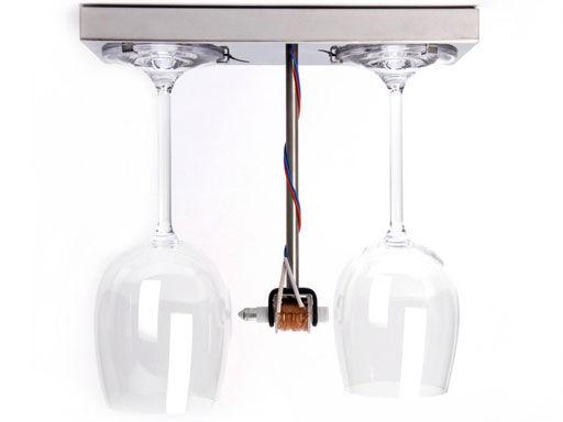 Dekoration - Spaßig und ausgefallen - Bottoms Up Doorbell Türklingel - droog - Transparent - Stahl - Kristall, rostfreier Stahl