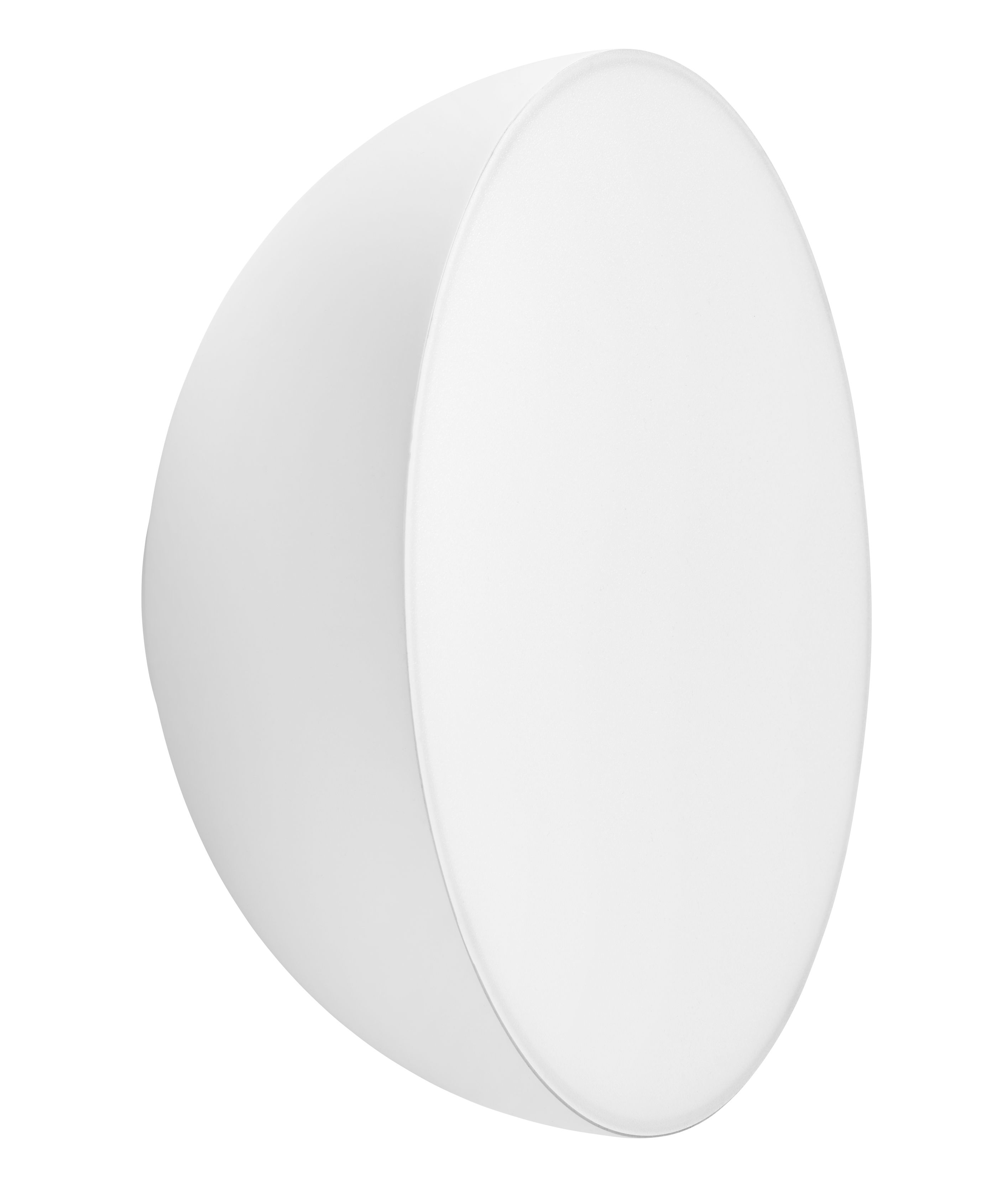 Lighting - Wall Lights - Passepartout JH12 Wall light - LED - Ø 28 x H 12,5 cm by &tradition - Matt white - Lacquered metal, Polycarbonate