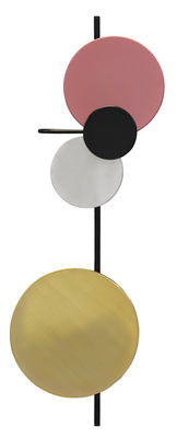Lighting - Wall Lights - Planet Lamp Wall light with plug - Adjustable - H 98 cm - To plug by PLEASE WAIT to be SEATED - Indian Red - Aluminium, Brass, Lacquered steel