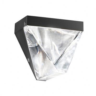 Luminaire - Appliques - Applique Tripla LED / Cristal - Fabbian - Anthracite / Transparent - Aluminium peint, Cristal