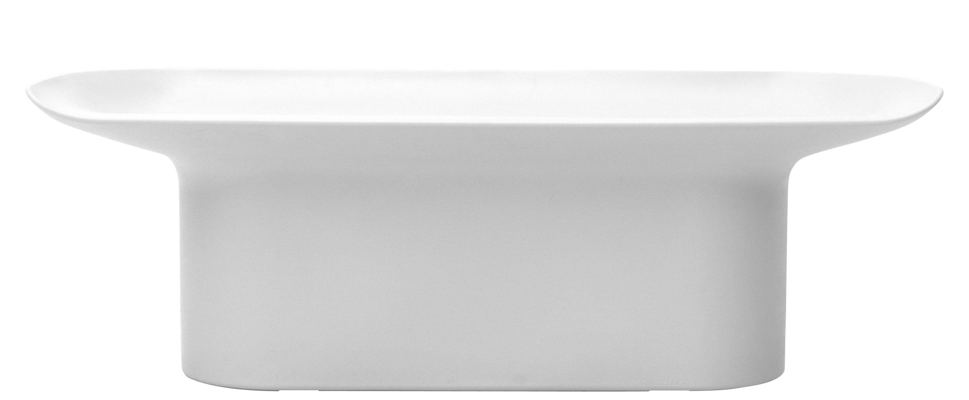 Möbel - Bänke - Luba Bank / L 141 cm - Kunststoff - Serralunga - Weiß - rotationsgeformtes Polyäthylen