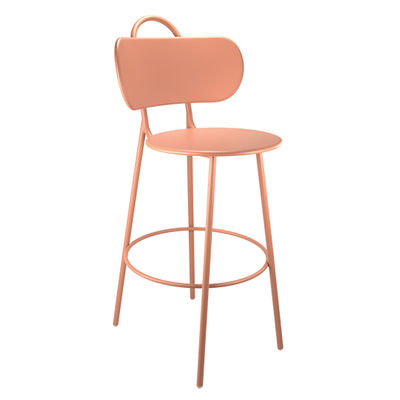 Furniture - Bar Stools - Swim Bar chair by Bibelo - Candy floss pink - Epoxy lacquered steel