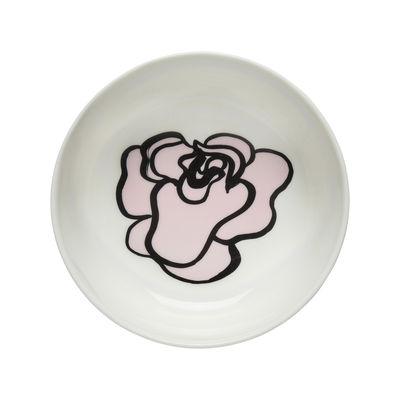 Arts de la table - Saladiers, coupes et bols - Bol Eläköön Elämä /Ø 13 x H 5 cm - 40 cl - Marimekko - Eläköön Elämä / Rose - Grès