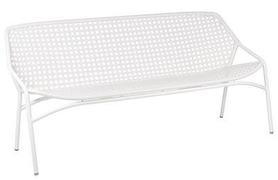 Canapé droit Croisette XL 3 places / L 177 cm - Plastique tressé - Fermob blanc en matière plastique