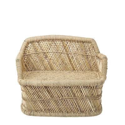 Canapé enfant / Bambou & jute - L 61 cm - Bloomingville beige/bois naturel en fibre végétale/bois