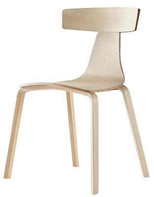 Mobilier - Chaises, fauteuils de salle à manger - Chaise Remo / Bois - Plank - Frêne naturel - Contreplaqué de frêne