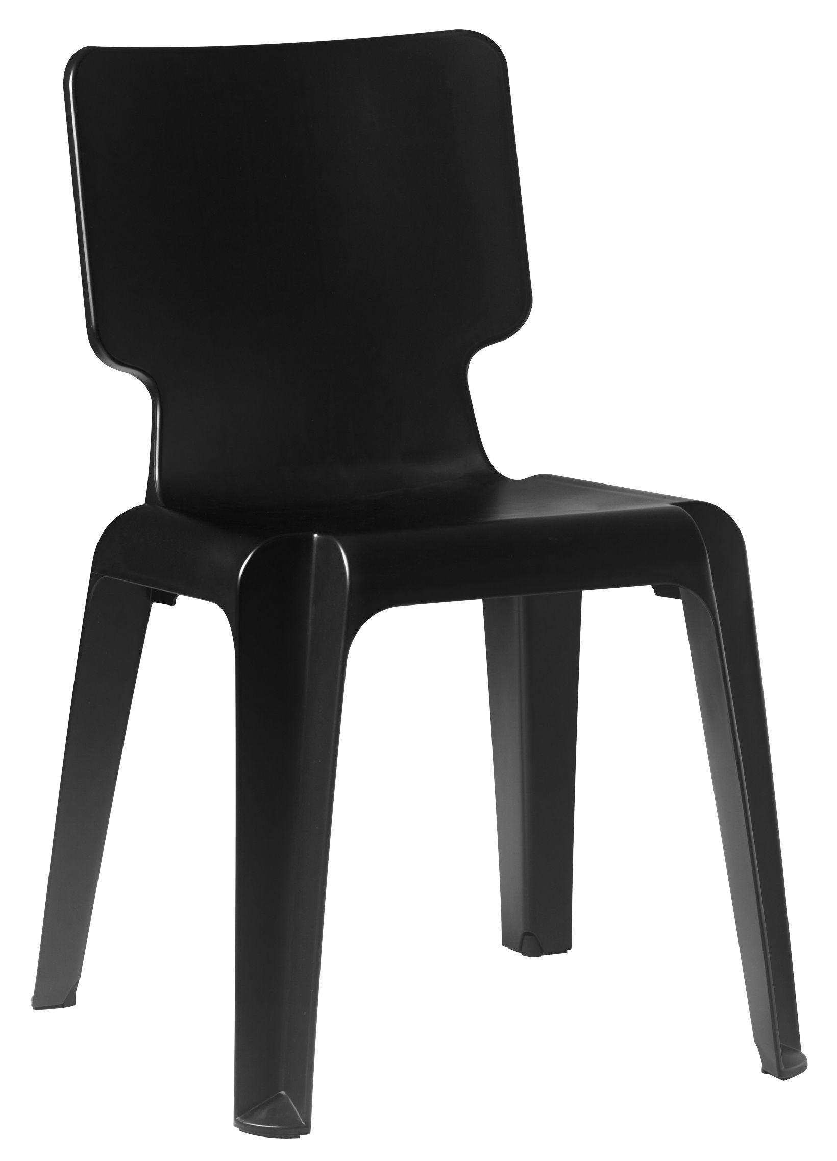 Mobilier - Chaises, fauteuils de salle à manger - Chaise Wait - Authentics - Noir - Polypropylène